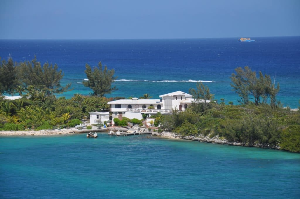 Even near Nassau, on New Providence island, it's entirely possible to live in secluded luxury with the Caribbean in your backyard.